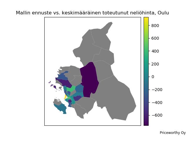 Mistä tekoälyn mielestä Oulussa kannattaa etsiä asuntoa juuri nyt?